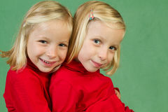 Cuddling twins twins Stock Photography