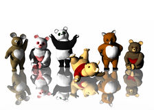 Cuddly Bears. A rendering of cudlly stuffed bears Royalty Free Stock Photo
