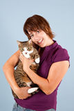 Cuddly cat Royalty Free Stock Photo