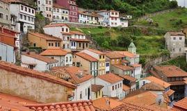 Cudillero, Астурия, Испания. Марина Стоковое Изображение