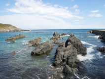 Cudillero, Asturias, Spain. Area coast and breakwaters, Cudillero. Asturias. Spain Royalty Free Stock Image