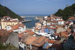 Cudillero Asturias, Spanien Arkivbild