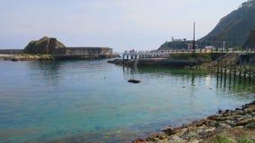 Cudillero, Fischerdorf in Asturien Spanien stockbild
