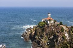 Cudillero Lighthouse stock photos