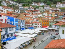 Cudillero, little coastal village in Asturias, northern Spain,. royalty free stock photography