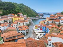 Cudillero, little coastal village in Asturias, northern Spain,. royalty free stock photos