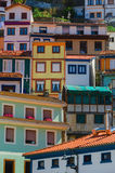 Cudillero multicolored house facades Stock Images