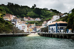 Cudillero Northern Spain. Cudillero is a traditional and beautiful fishing village in Asturias, northern spain Stock Photo