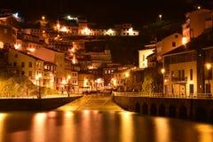 Cudillero, petite ville dans le nord de l'Espagne images libres de droits