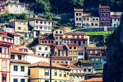 Cudillero, pueblo pesquero en Asturias (España) Imagen de archivo libre de regalías