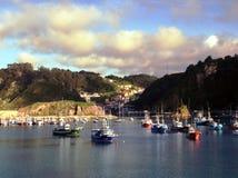 Cudillero´s harbour stock photos