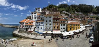 Cudillero is a small village in Asturias, Spain. These days, Cudillero`s main economic activ royalty free stock photography