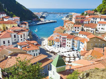 Cudillero in Spain. Overview of the fishing village of cudillero in Asturias, Spain Stock Photos