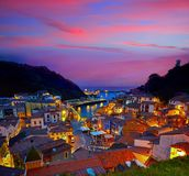 Cudillero village in Asturias Spain. Cudillero village in Asturias from Spain stock photos