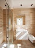 Cudowna marmurowa łazienka fotografia stock