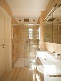 Cudowna marmurowa łazienka obraz royalty free
