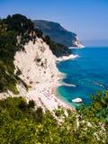 Cudowna plaża Numana, góra Conero, Włochy Obrazy Royalty Free