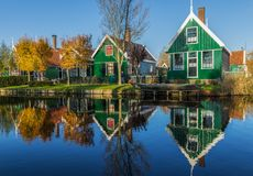 Cudowna wioska Zaanse Schans, Netherland zdjęcie royalty free