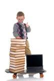 cudowne dziecko biblioteczny internetu surfingu Obraz Royalty Free