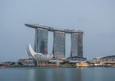 Cudowni Marina zatoki piaski hotele, Singapur obraz royalty free