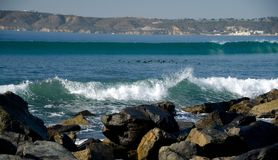 Cudowny Bożenarodzeniowy popołudnie przy Coronado plażą Zdjęcia Stock