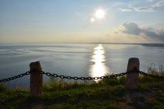 Cudowny denny widok od przylądka Kaliakra zdjęcia stock