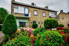 Cudowny dom w Assen miasteczku, holandie obraz stock