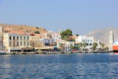Cudowny Grecja Symi wyspa, Dodecanese zdjęcie stock