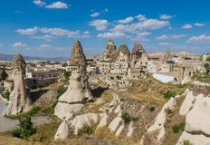 Cudowny krajobraz Cappadocia, Turcja obrazy royalty free