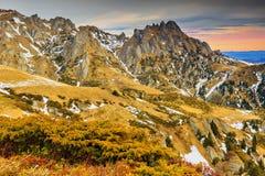 Cudowny krajobraz i kolorowy niebo Zdjęcie Royalty Free