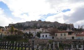 Cudowny krajobraz miasto Ateny i akropol zdjęcia royalty free