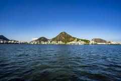Cudowny miasto Cudowni miejsca w świacie Laguna i sąsiedztwo Ipanema w Rio De Janeiro, Brazylia obraz royalty free