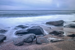 cudowny na plaży Obrazy Royalty Free