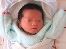 cudowny noworodek Fotografia Royalty Free