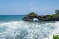 Cudowny seascape: nadmorski z dużą fala od twój wymarzonej podróży Obraz Royalty Free