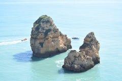 Cudowny skalisty Algarve zdjęcia royalty free