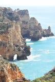 Cudowny skalisty Algarve fotografia royalty free