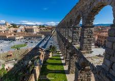 Cudowny Stary Grodzki Segovia, Hiszpania zdjęcie stock