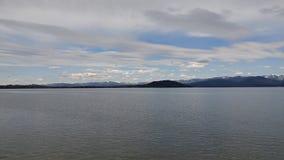 Cudowny widok góry jeziorem Zdjęcie Stock