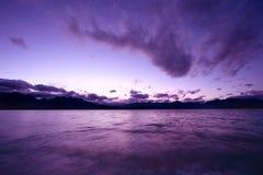 cudowny zachód słońca Obrazy Royalty Free