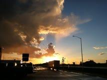 cudowny zachód słońca Zdjęcie Stock