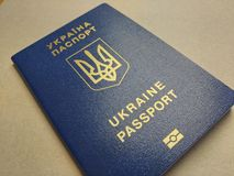 Cudzoziemski paszport mieszkaniec Ukraina, zdjęcie royalty free