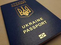 Cudzoziemski paszport mieszkaniec Ukraina, fotografia stock