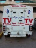 Cudzoziemski prasowy pojazd zdjęcia royalty free