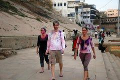 Cudzoziemski turysta W India obrazy royalty free