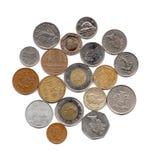 Cudzoziemskie monety Obraz Stock
