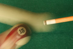 Cue And Pool Ball Stock Photos