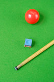 Cue and a ball Stock Images