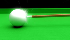 Cue ball impact Stock Images