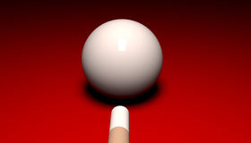 Cue Ball and Cue Stock Photography